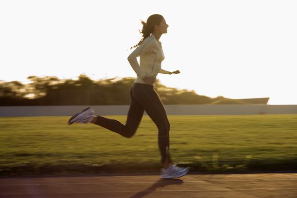 running woman field