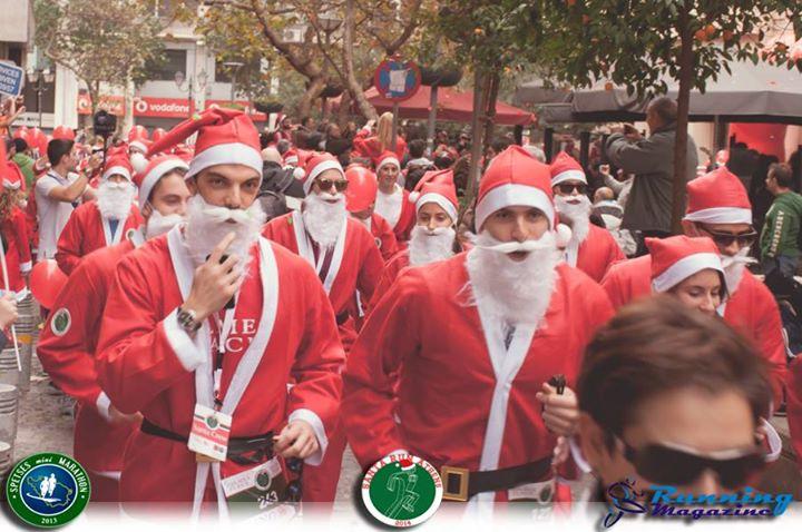 athens santa run 2014