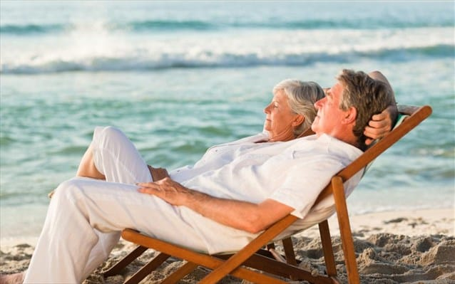 old couple beach