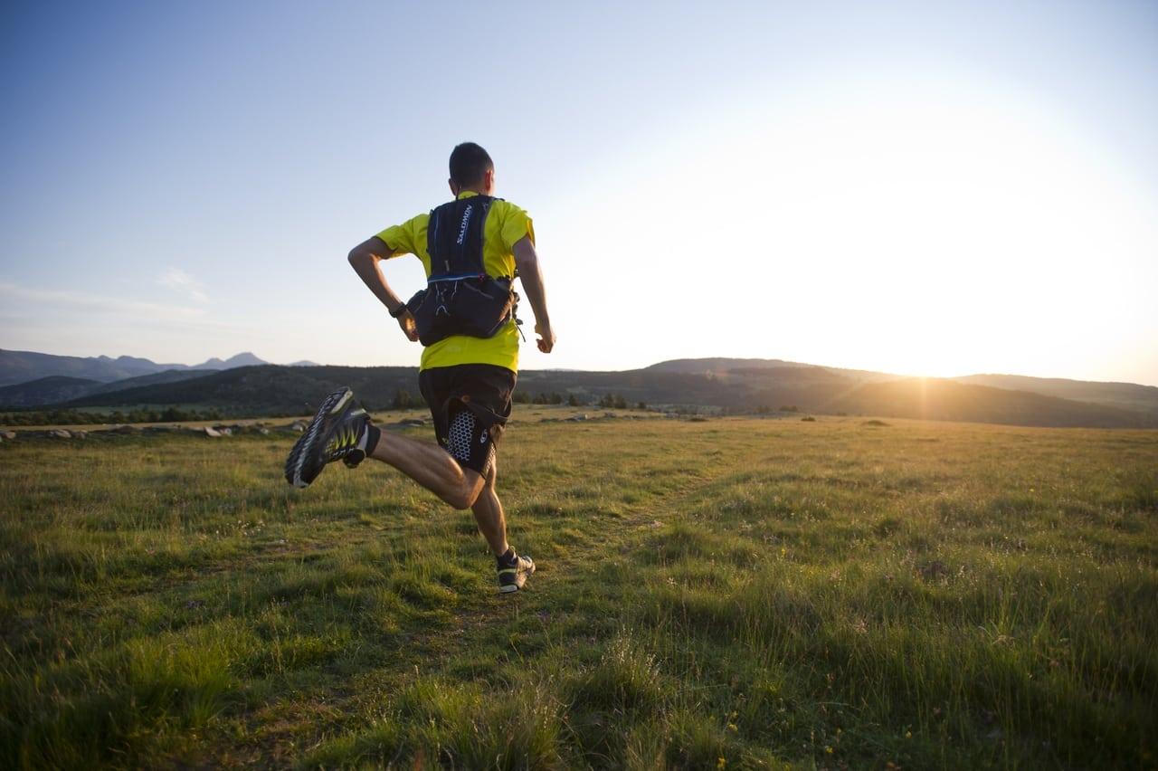 man run in field