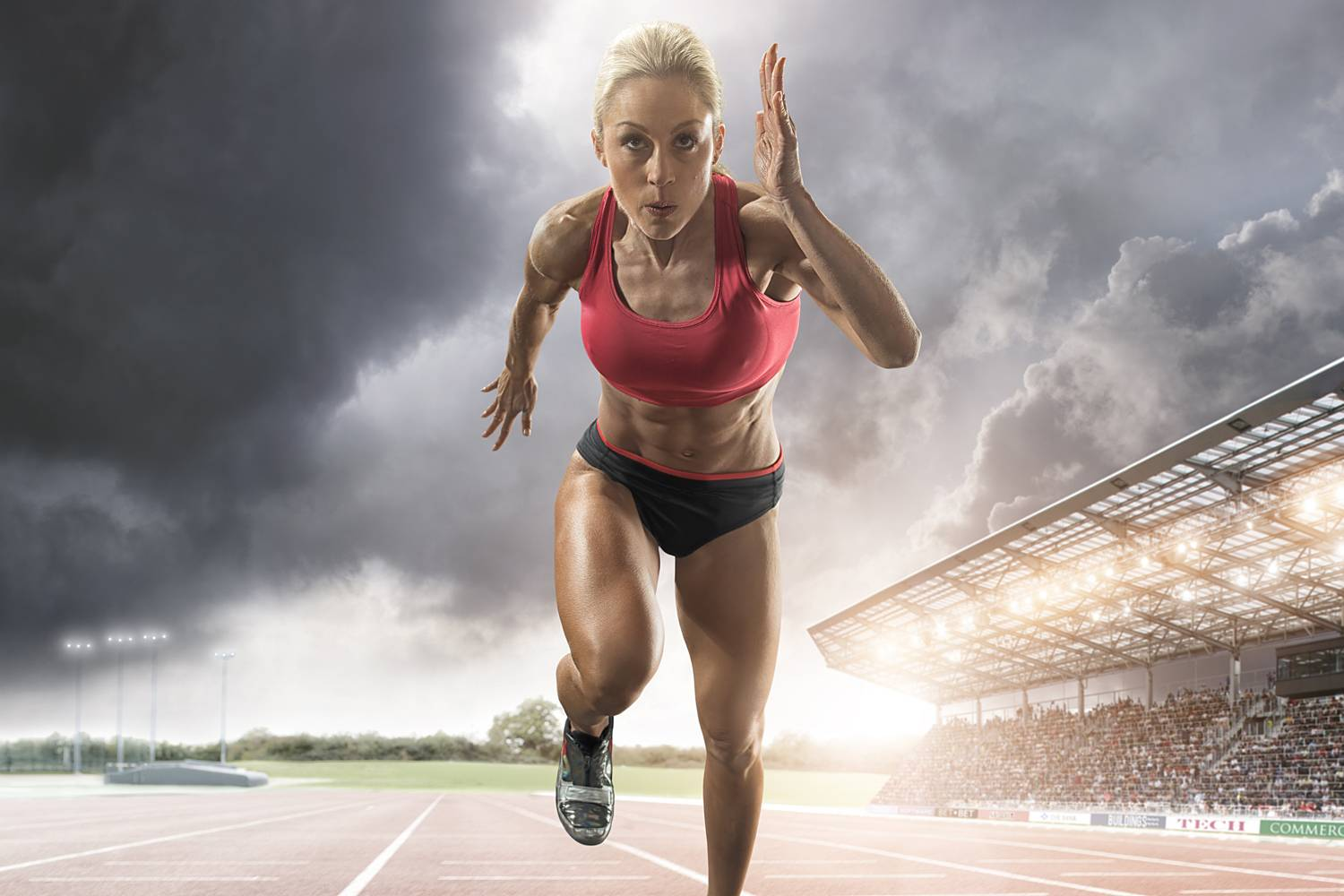 sprinting-athlete woman