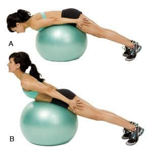 Swiss Ball Back Extension