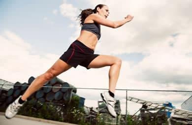runner strong woman