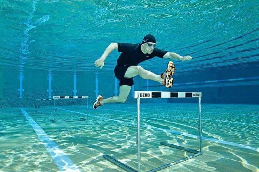running underwater