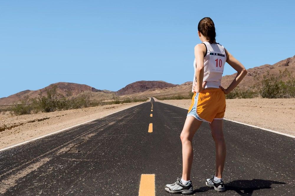running woman stands