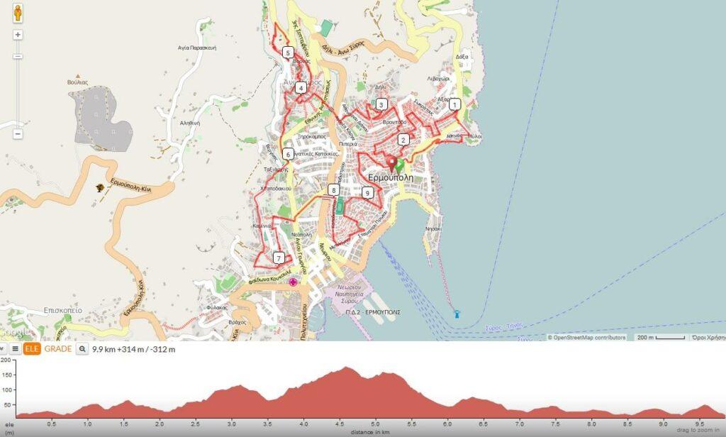 Syros City Trail - Διαδρομή 4km