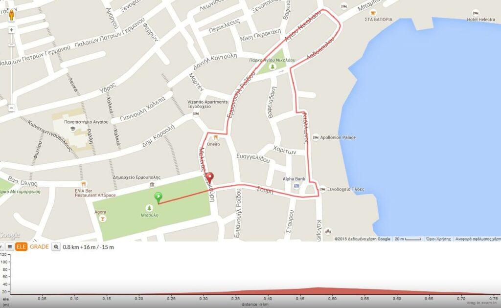 Syros City Trail - Διαδρομή 800m